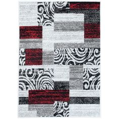 Kusový koberec PP Fire šedočervený Sisal, Fire, Quilts, Blanket, Rugs, Design, Home Decor, Farmhouse Rugs, Decoration Home