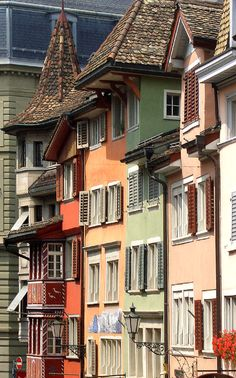 Augustinergasse in Zürich's old town, Switzerland