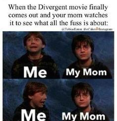 Harry potter and Divergent. My two favorite things!!