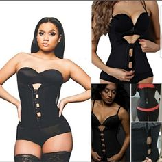 Zipper And Hooks Combo Rubber Latex Waist Trainer Sexy Waist Training Corsets Underbust Waist Cincher Zip And Clip Waist Shaper  Please comment size you need!! | Shop this product here: http://spreesy.com/Miizteedrink/5 | Shop all of our products at http://spreesy.com/Miizteedrink    | Pinterest selling powered by Spreesy.com