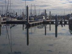 Calm winter day on Corpus Christi marina
