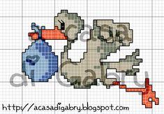 A Casa di Gabry: Una cicogna in volo...schema per tutte!