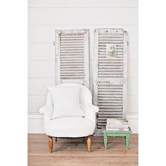 @ Dreamy Whites Lifestyle - Vintage French grey shutters