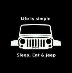 Life is simple Sleep, Eat & Jeep