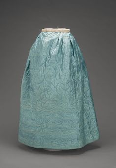 Silk quilted 18th century petticoat - Musum of fine art Boston