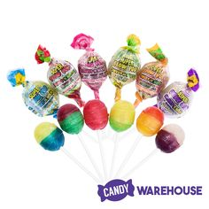 Charms Super Blow Pops Sweet N Sour Assortment: Box Wholesale Candy, Types Of Candy, Fall Candy, Rainbow Candy, 10 Birthday, New Inventions, Sweet Peach, Sweet Cherries, Strawberry Lemonade