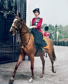 Princess Elizabeth represented the King at Trooping of the Colour ceremony in London on June 7, 1951