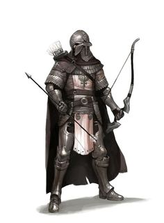 Shared by WhatUserNameIsntFethingTaken. Fantasy Character Art for your DND Campaigns 3d Fantasy, Fantasy Armor, Medieval Fantasy, Dark Fantasy, Medieval Archer, Dnd Characters, Fantasy Characters, Fantasy Inspiration, Character Inspiration