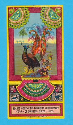 Tavuskusu Peacock  Vintage Fez Label