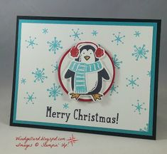 Windy's Wonderful Creations: Merry Christmas Penguin!, Stampin' Up!, Snow Place, Snow Friends dies, Layering Circles dies