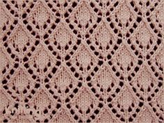 eyelet-lace-stitches | Knitting Stitch Patterns