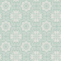 Hessle Aqua Floral Wallpaper