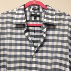5e23b9f1 Banana Republic Men's Dress Shirt Size XXL Lavender & Black Plaid  Button Front #BananaRepublic