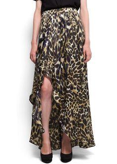 MANGO - SHOES - Animal print long skirt 39.90