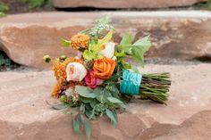 Orange, Peach, & Pink Bouquet | Photography by Burlap & Blossom | burlapandblossom.com