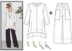 Style Arc Sewing Pattern - Daisy Designer Pant and Tunic Outfit ...