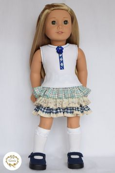 American girl doll clothes  Designed tee  ONLY by PricessPrincess