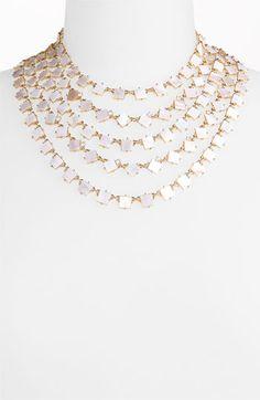 kate spade new york 'pearl cove' bib necklace