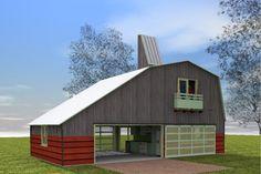 Farmhouse Style House Plan - 1 Beds 1 Baths 1157 Sq/Ft Plan #450-2 Exterior - Other Elevation - Houseplans.com