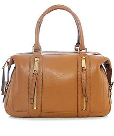 d30e9de768e5 MICHAEL Michael Kors Womens Julia Leather Convertible Satchel Handbag Tan  Large -- To view further