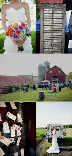 I just have a thing for rustic outdoor weddings with little romantic and quirky touches. AHHH ONE DAY. <3
