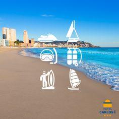Aprovecha tus #vacaciones en Benidorm para disfrutar del mar y el deporte . Pregunta a nuestros amigos de Visit Benidorm Tourist Board. Reservas ➢ 965 857 190 #HotelcarlosI #HC1 #Benidorm #paseo #Holidays #Playa #palmeras #Tourism #Turismo #mañana #sol #sun #Costablanca # #Poniente #Levante #piscina #pool #vacaciones #vela #buceo #motodeagua #windsurf #surf