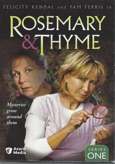 'Rosemary and Thyme'. One of the best British mystery series. Two sleuths, Rosemary Boxer and Laura Thyme investigate murders in England & abroad. The English gardens the show is filmed in are fabulous. A 'Must See' series. British Mystery Series, Mystery Show, Best Mysteries, Cozy Mysteries, Murder Mysteries, Bbc Tv Shows, Movies And Tv Shows, Felicity Kendal, Films Cinema