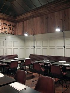 Restaurante Revestido de Madeira
