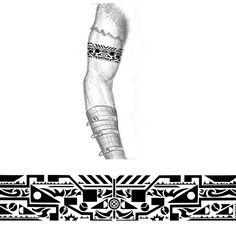 Tribal Industrial arm band tattoo by thehoundofulster.deviantart.com on @DeviantArt