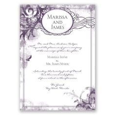 Vintage Monogram - Gem - Invitation | Invitations By David's Bridal