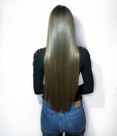 ♥️ Fllw me for poppin' pins ✨ V Cut Hair, Long Hair Cuts, Long Hair Styles, Long Dark Hair, Long Layered Hair, Beautiful Long Hair, Gorgeous Hair, Straight Hairstyles, Cool Hairstyles