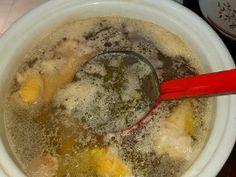 Húsleves lépésről lépésre recept lépés 3 foto Cheeseburger Chowder, Soup, Soups