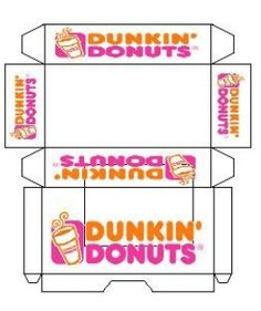 mini printout Dunkin' Donuts - for elf on the shelf donuts