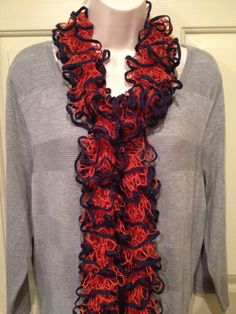 A personal favorite from my Etsy shop https://www.etsy.com/listing/225071403/starbella-stripes-ruffle-scarf