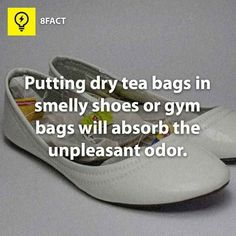 Make life better for both toes and nose with unused tea bags.