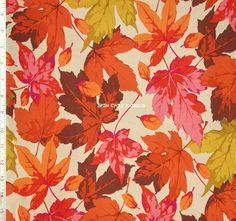 1YD Autumn Medley MAPLES MN46 CORAL Orange Leaf Martha Negley Westminster  #Westminster