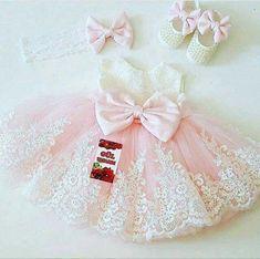 Baby Girl Birthday Dress, Baby Girl Party Dresses, Birthday Dresses, Little Girl Dresses, Baby Dress, Flower Girl Dresses, Pink Dress, Baby Girl Fashion, Kids Fashion