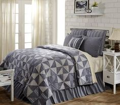 Huron Twin Quilt 70x90 - The twin quilt measures 70