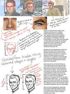 face tutorial by ~kreugan on deviantART ✤    CHARACTER DESIGN REFERENCES   キャラクターデザイン   çizgi film • Find more at https://www.facebook.com/CharacterDesignReferences