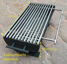 Asador De Carne Al Carbon, Tipo Hibachi Grill - $ 1,500.00 en Mercado Libre