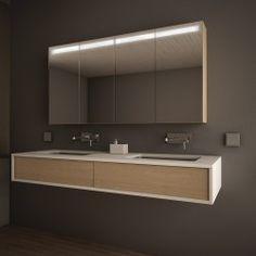 Badezimmer Badezimmer-Spiegelschrank Linja beleuchtet
