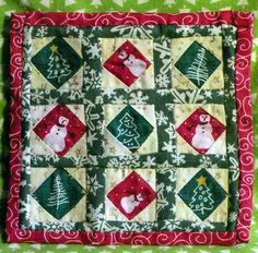 how to: Christmas quilt