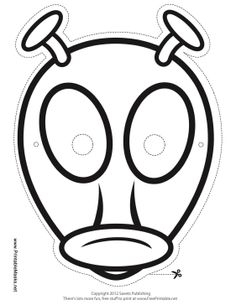 What color are aliens? You can decide with this fun blank alien mask, ready for you to color in! This mask includes antennae and big eyes for an extra scary look. Free to download and print