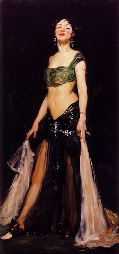'Salome', 1909  -  Robert Henri  (1865-1929) Danced for John the Baptist head on a platter.