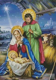 Nativity Scene - Cross Stitch Chart - Click Image to Close