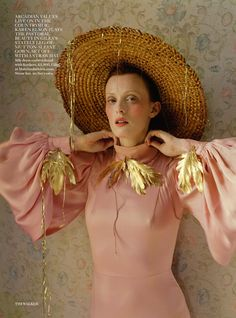 """Made in Britain"" Karen Elson by Tim Walker for Vogue UK, december 2013"