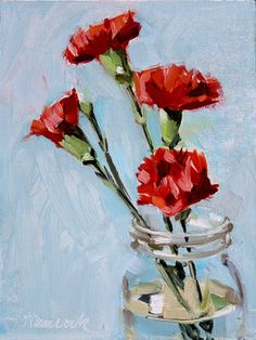 Oil painting Abstract Red - - Oil painting Ideas Dark - Oil painting Still Life Flowers - Simple Oil Painting, Oil Painting For Beginners, Still Life Oil Painting, Oil Painting Flowers, Beginner Painting, Oil Painting Abstract, Painting Lessons, Painting Tips, Watercolor Artists