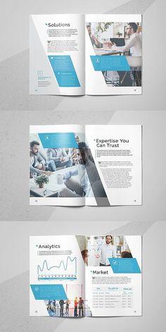 InDesign Business Brochure Template #brochure #template #brochuretemplates #indesign #templates #layout #editorial #corporate #business