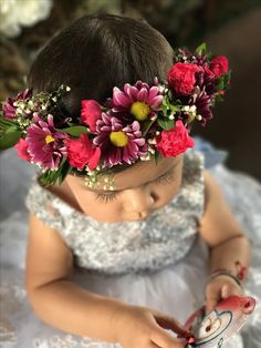 Baby Mila's floral crown 👑