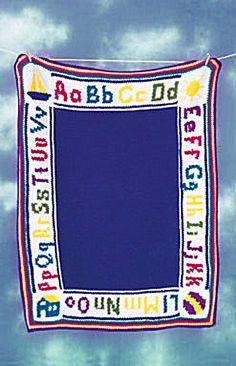 Crochet Alphabet Afghan